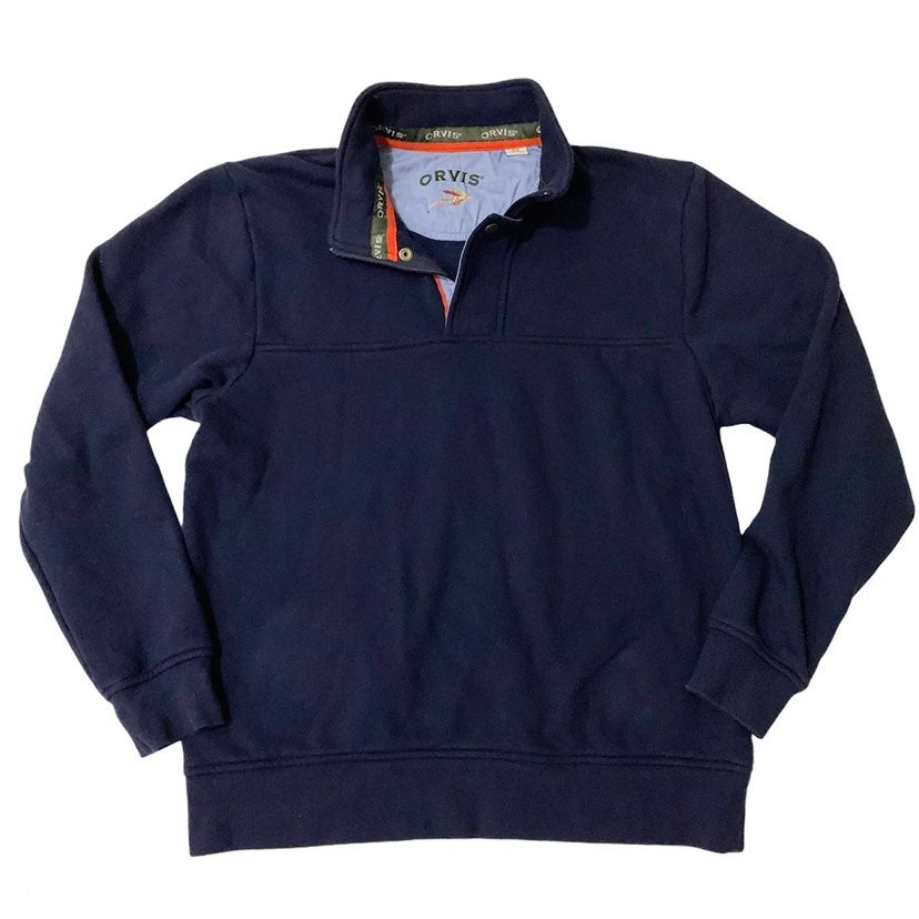 Orvis 1/4 Zip Pullover Sweater Blue