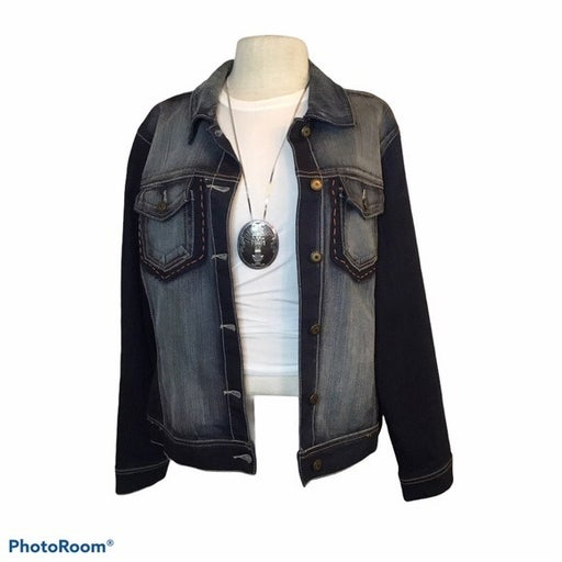 CREST JEANS Dark Denim Jacket Size 1XL