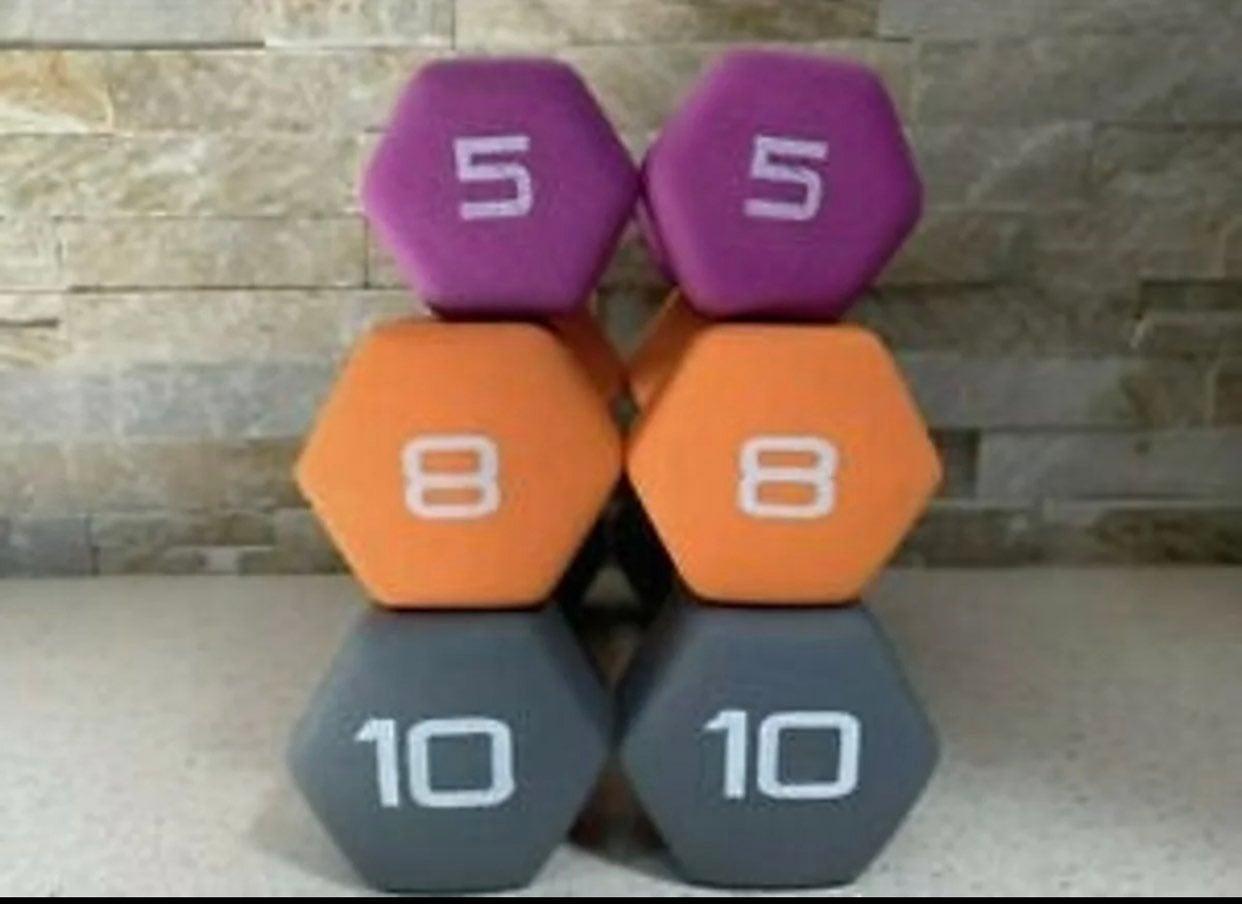 NEW - 10lb 8lb 5lb Dumbbell Set