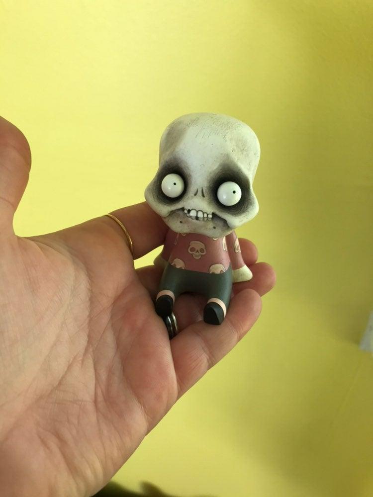 Little skeleton Art doll sculpture