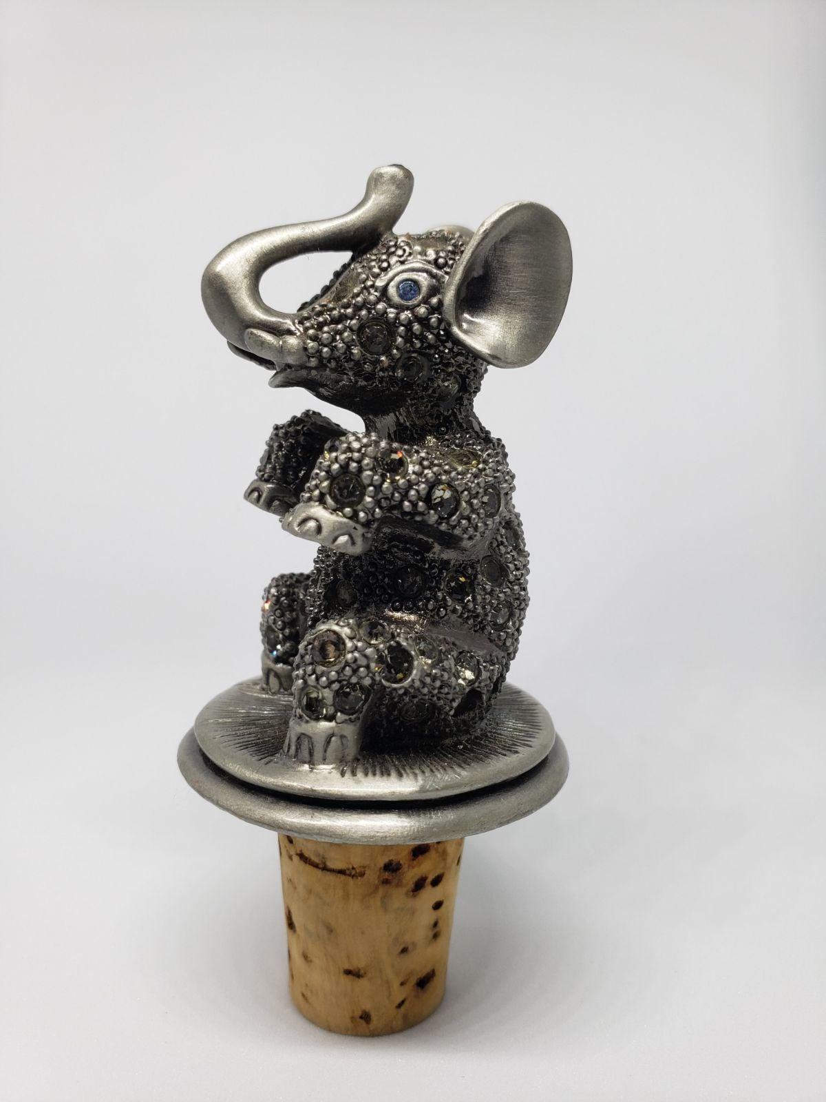 Bombay Wine Stopper Rhinestone Elephant