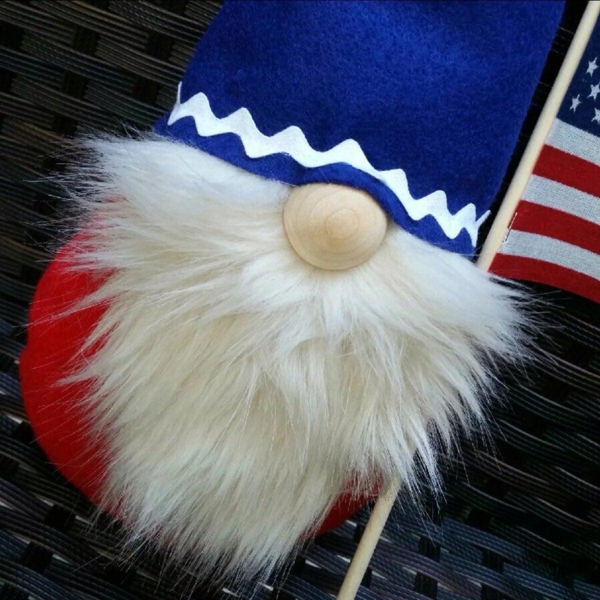 Gnome. Veteran. USA. Patriotic Gnome.