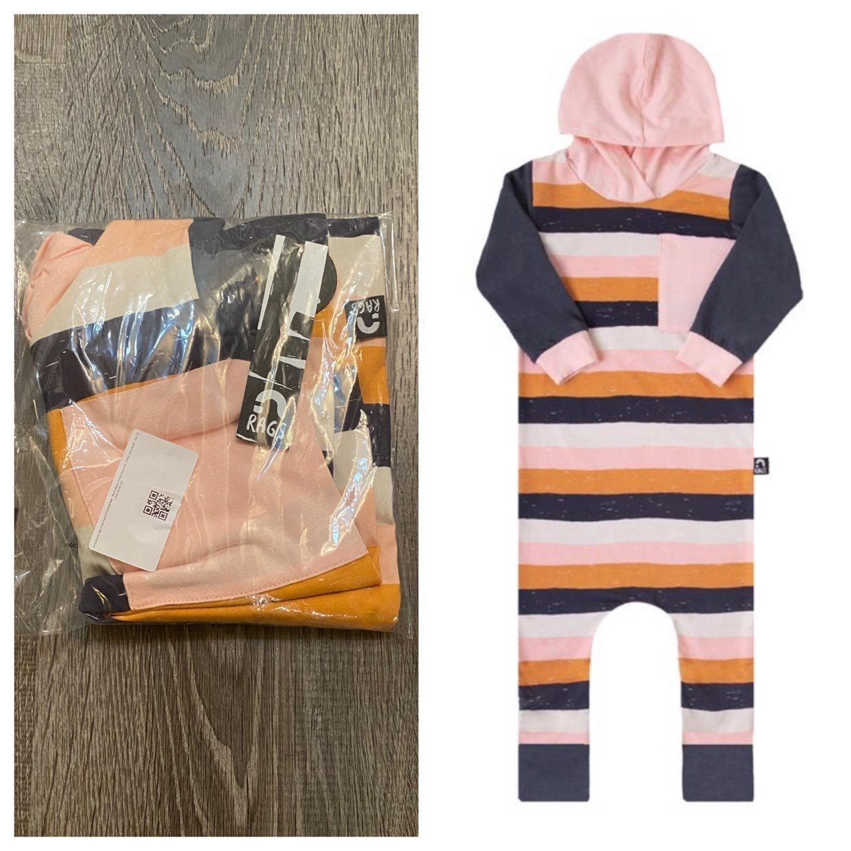 Paint stripe chintz rose Rags 2T