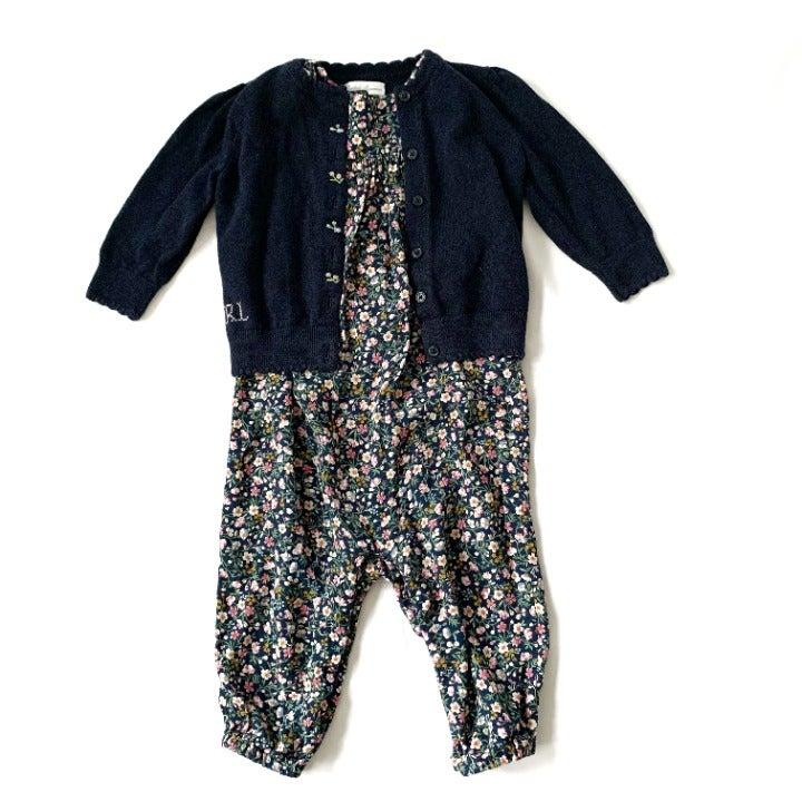Ralph Lauren Cardigan And Jumpsuit Set