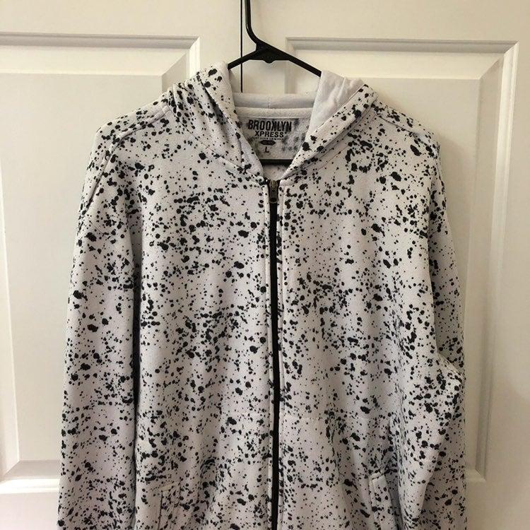 Black and White Paint Splatter Jacket