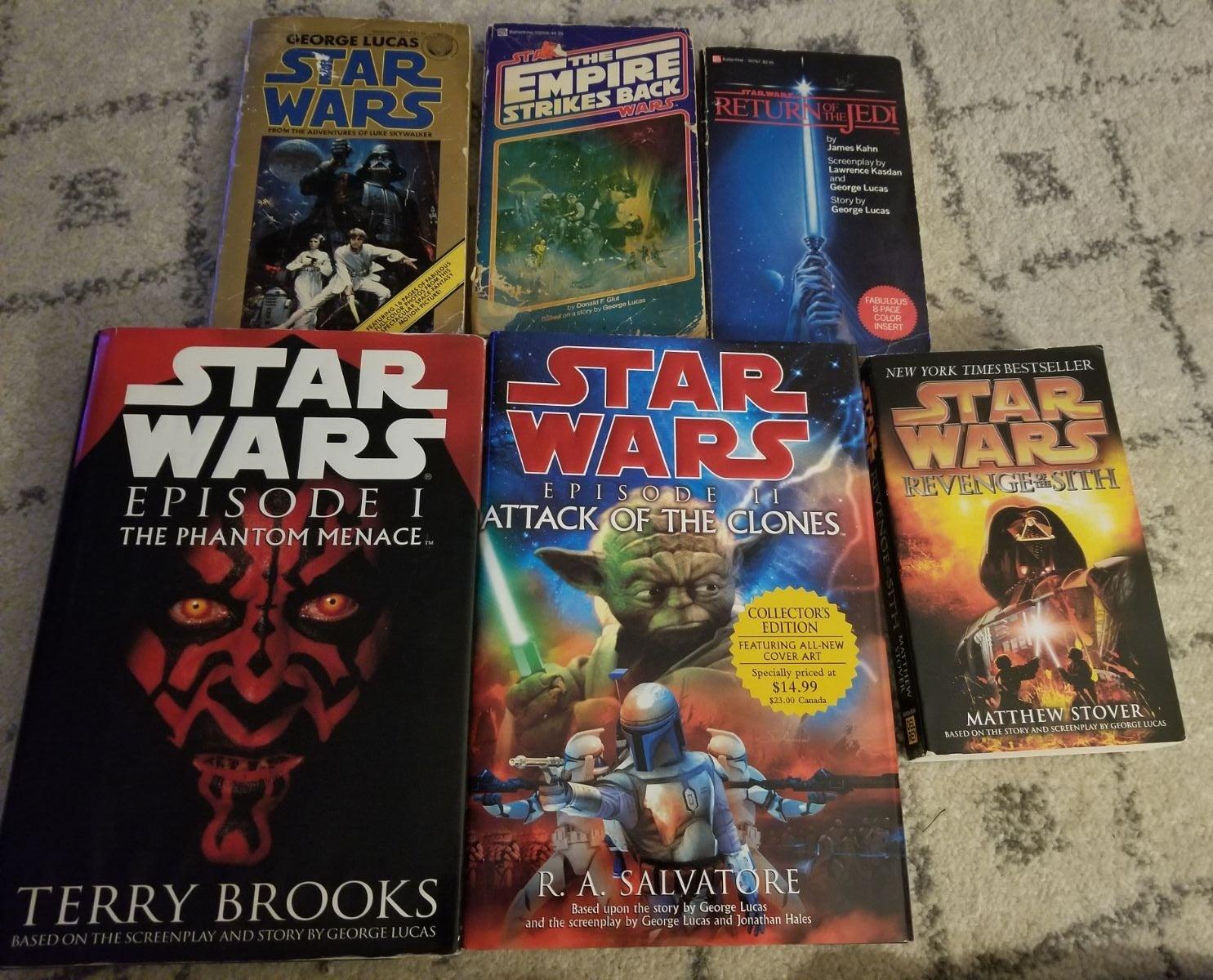 Star Wars book lot of movie episodes 1-6