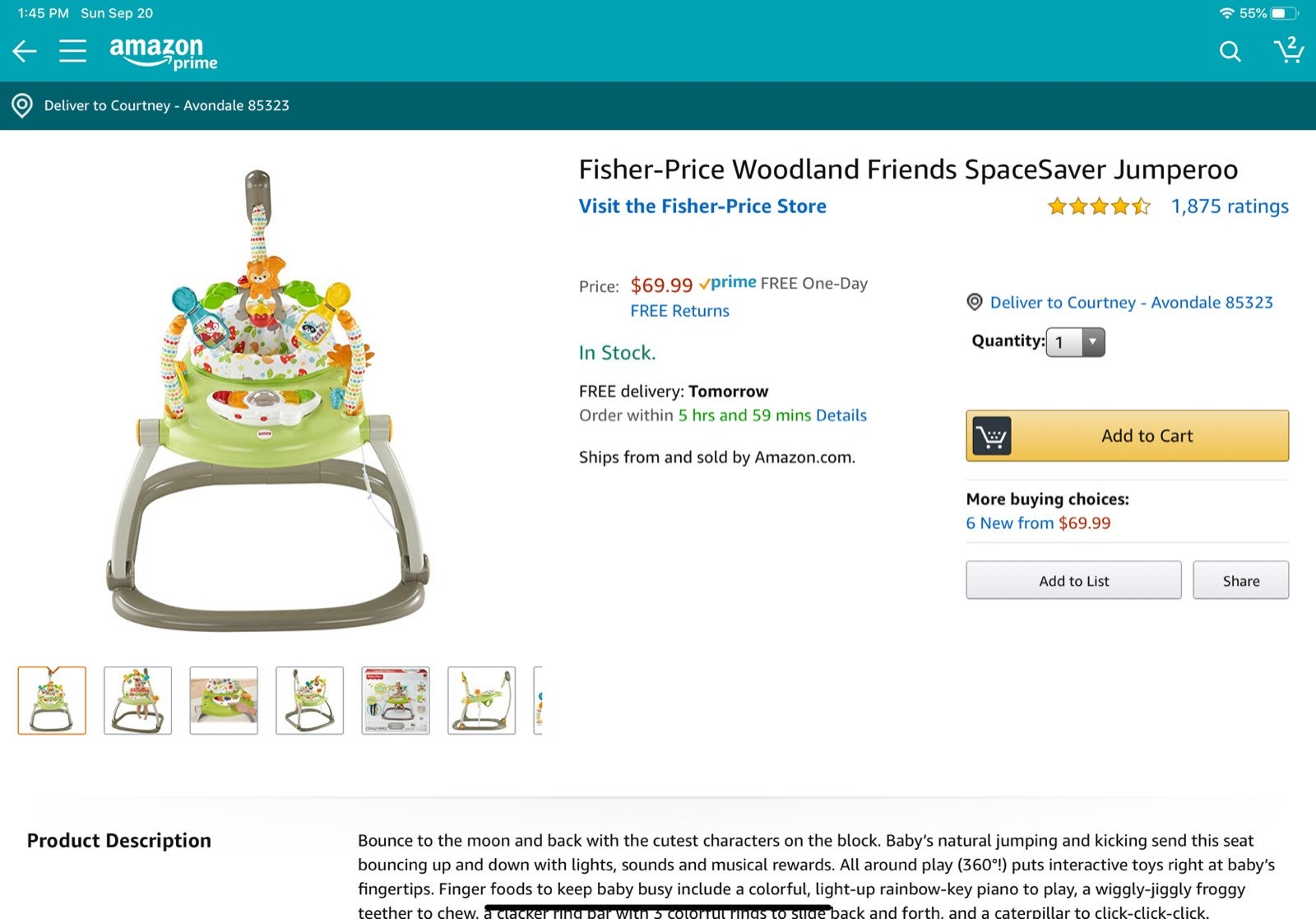 Fisher-Price Woodland Friends SpaceSaver