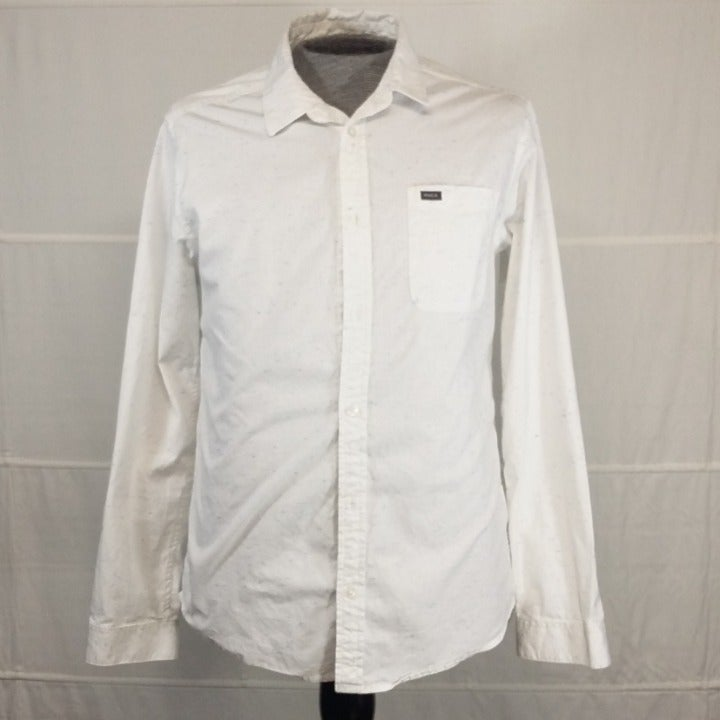 RVCA white shirt slim fit long sleeves