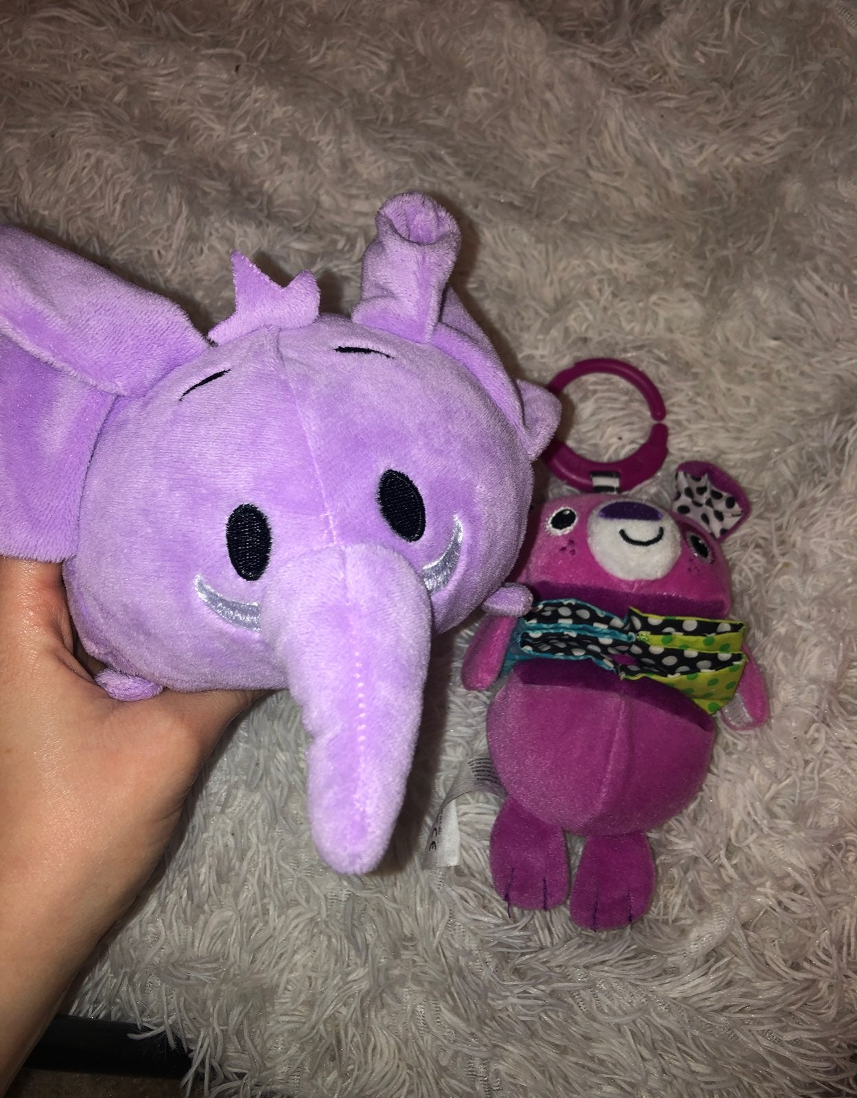 Plush elepheant and carseat toy