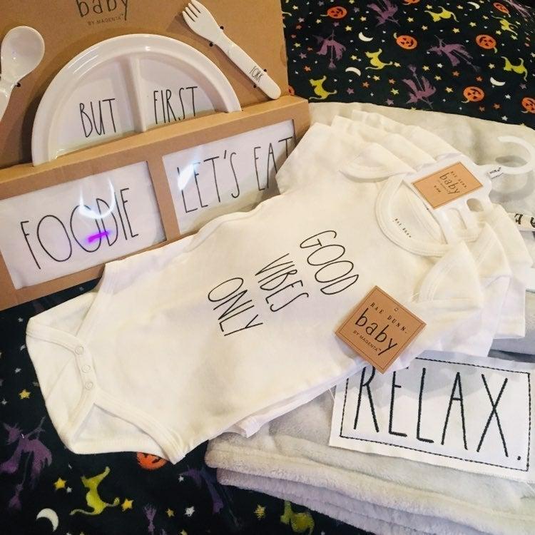 Rae Dunn Baby Gift Set PLUS BLANKET