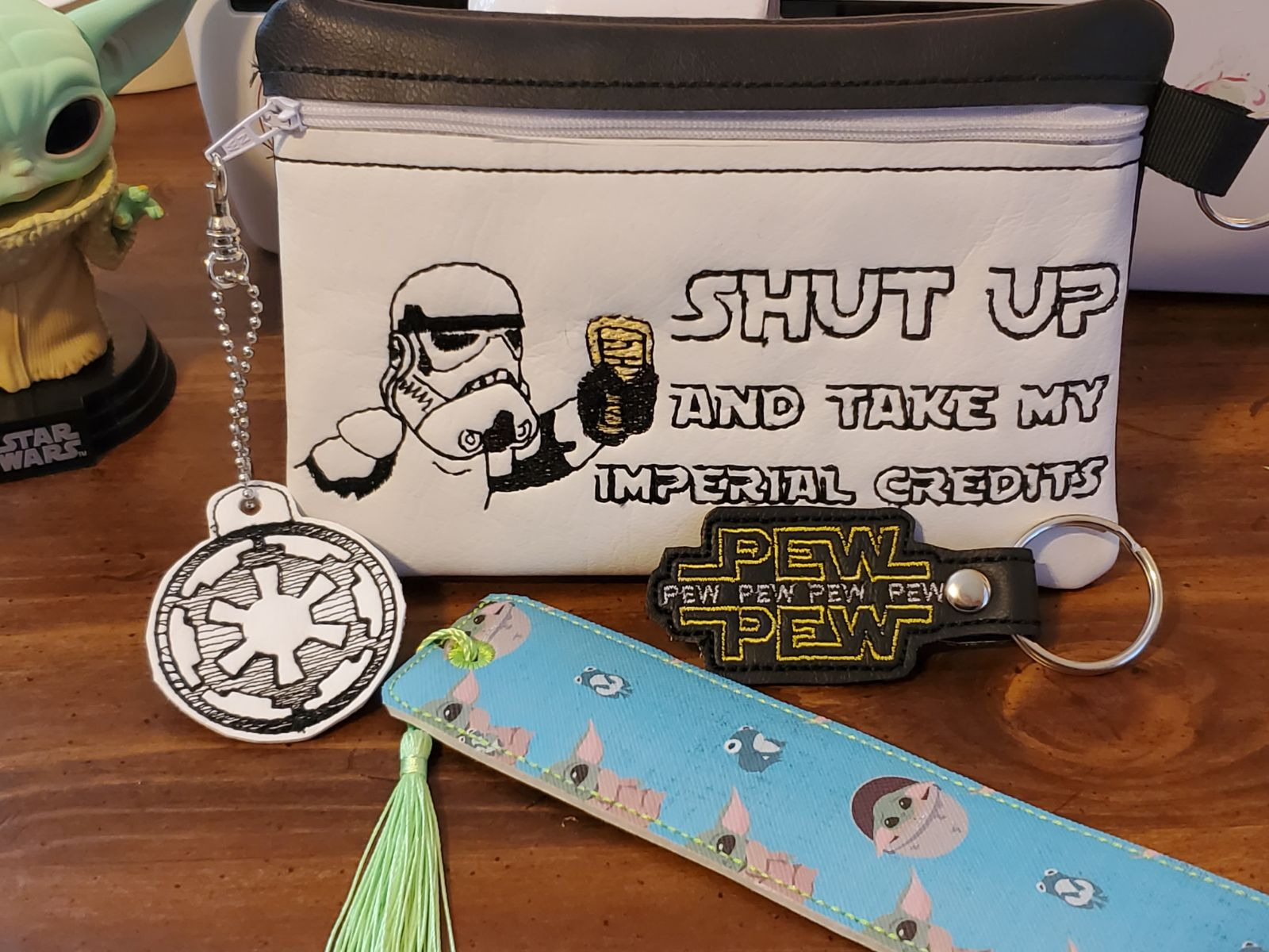 Handmade Star Wars Stormtrooper bag book