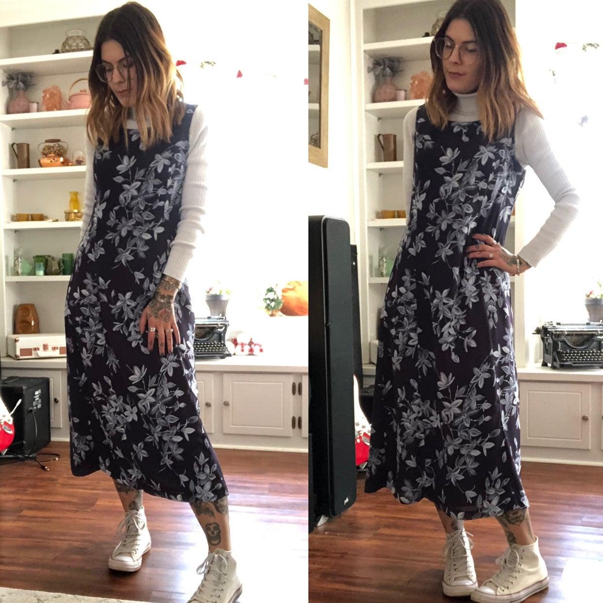Vtg floral mom dress