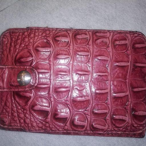 2 Brahmin wallets. Gator leather