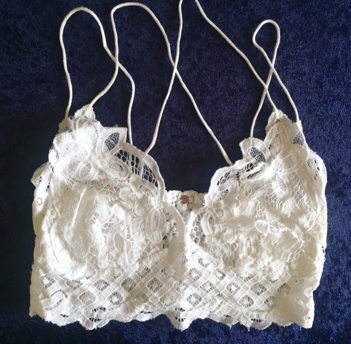 FREE PEOPLE FP ONE White Lace Bralette M