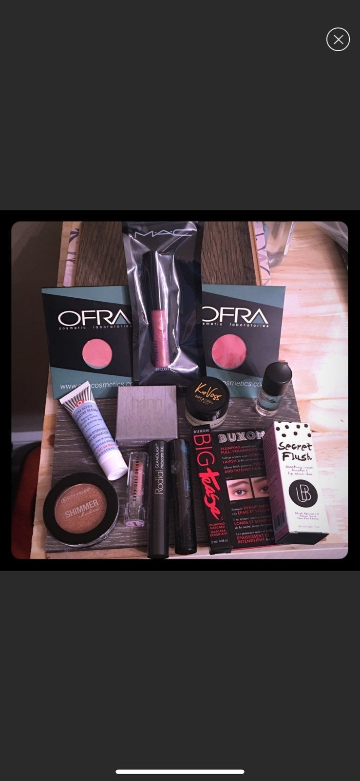 Makeup lot MAC, Ofra, First aid beauty,