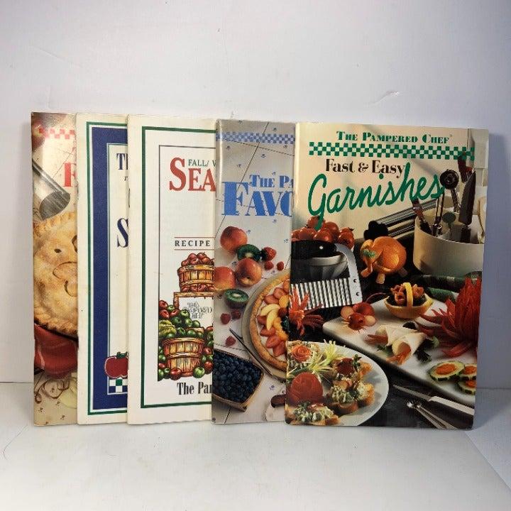 The Pampered Chef Cookbooks Set of 5 Fav