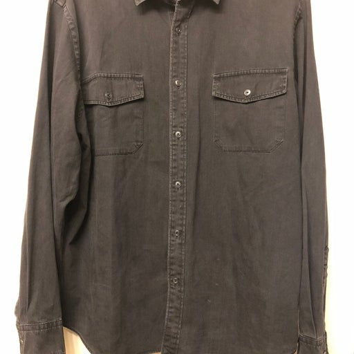 Untuckit Denim Shirt XL Solid Black