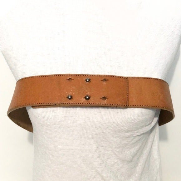 3.1 Phillip Lim tan leather wide belt