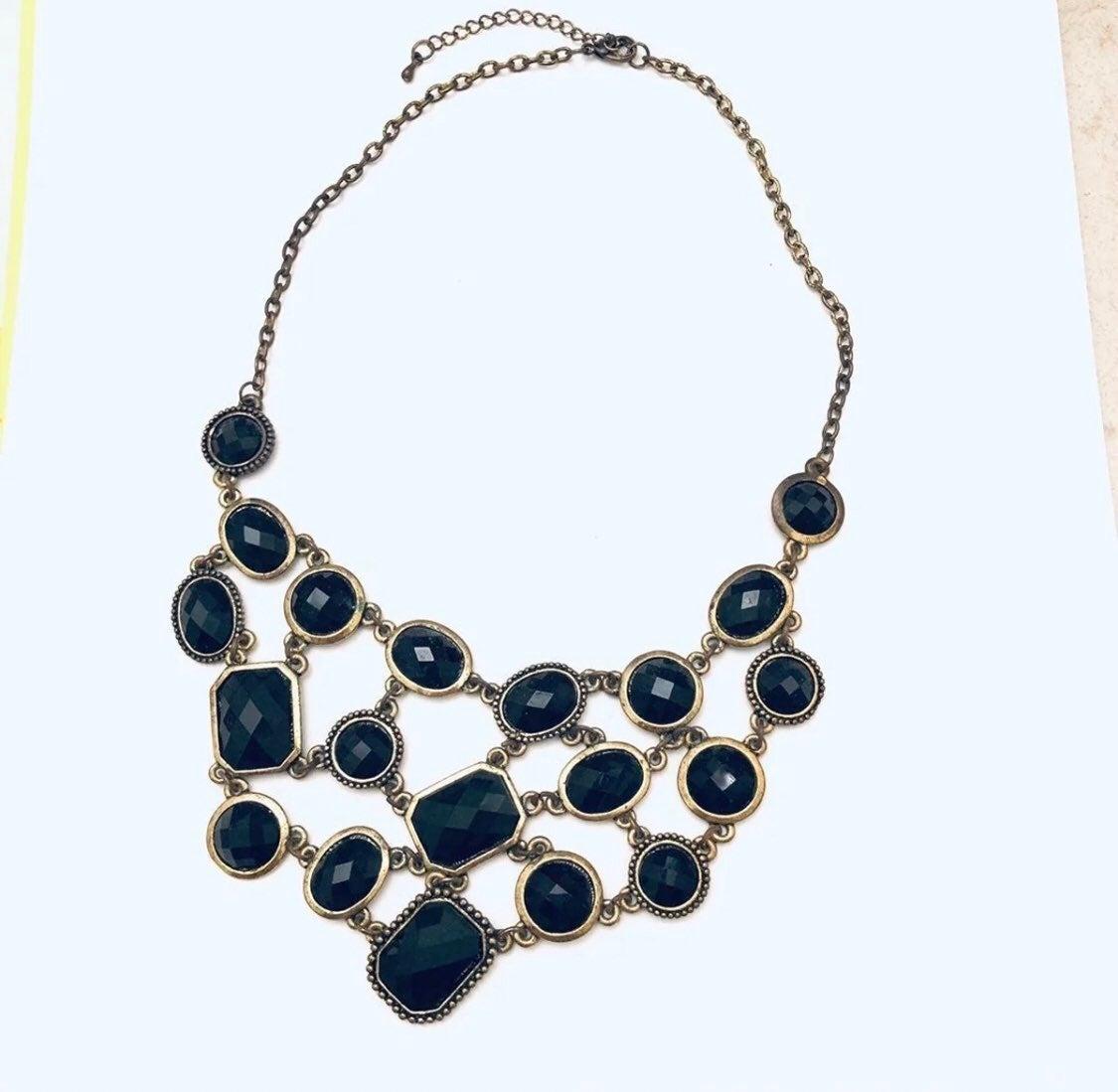 Black statement Necklace - new