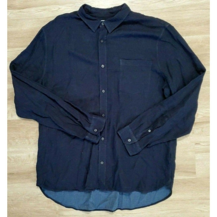 Vine Mens Classic Sport Blue Shirt 2XL
