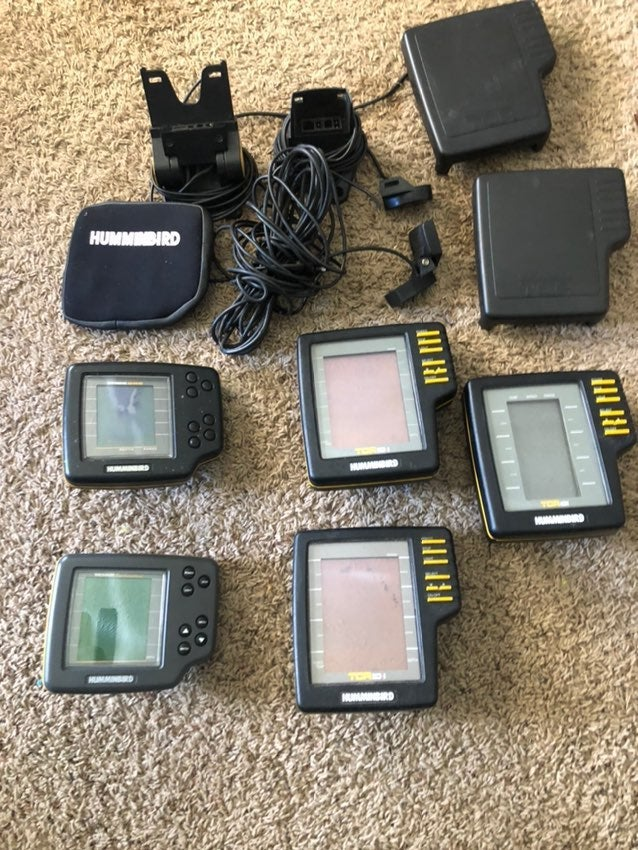 Lot of 5 Hummingbird depth / fish finder