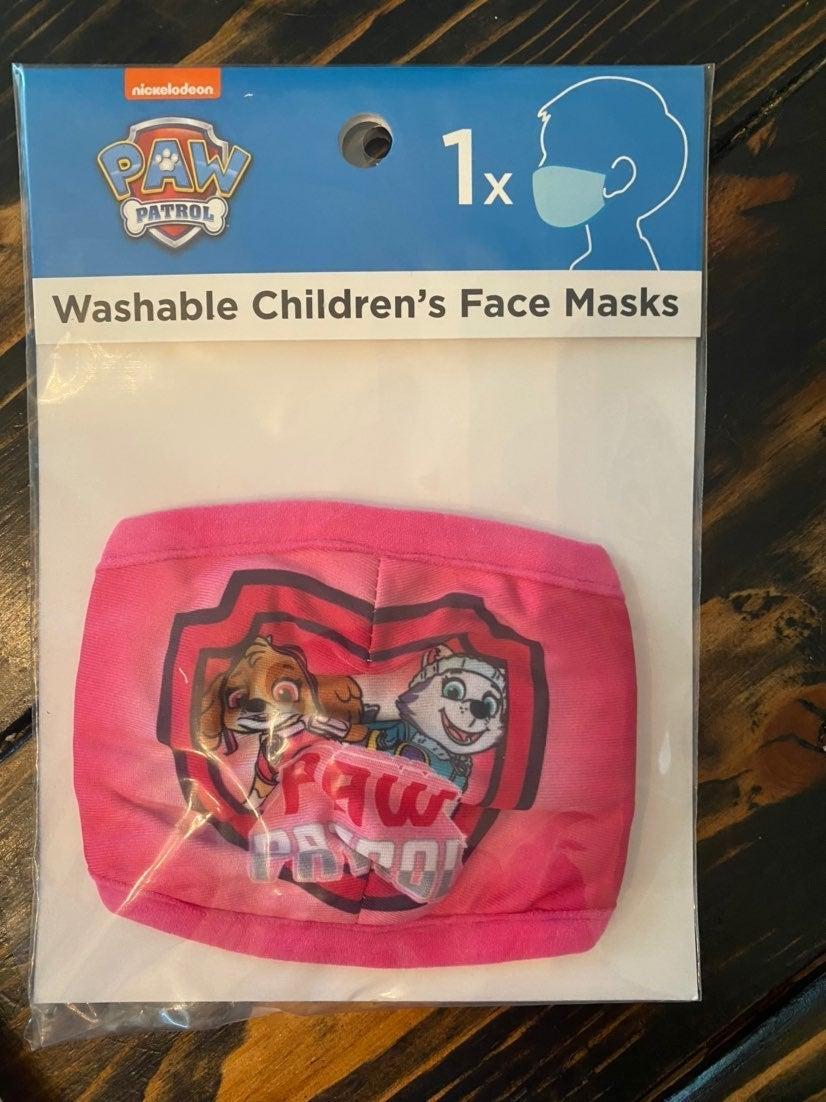 Paw patrol pink kids mask