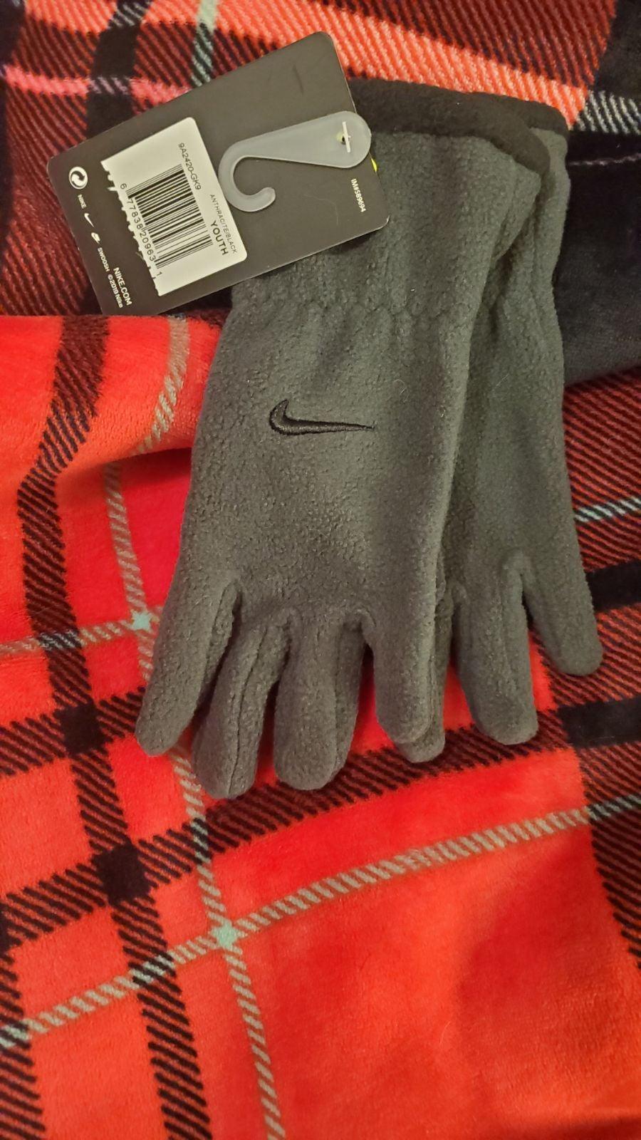 Nike gloves Gray fleece