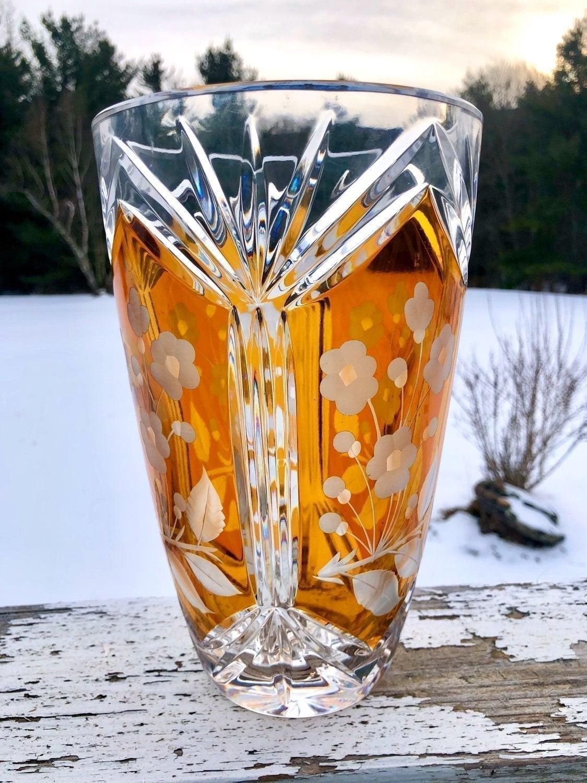 Bohemian Rhapsody, Amber Crystal Vase