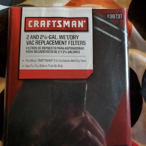 Craftsman 2-2 1/2 gallon filters & band