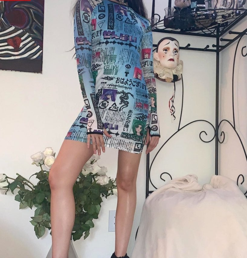 NWT~To Be Continued Anime Mesh MiniDress