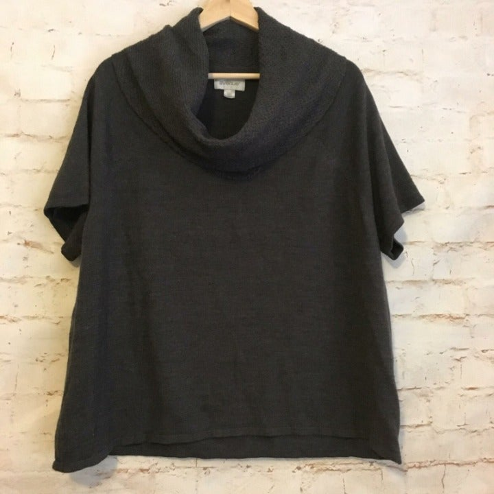 Avenue Short Sleeve Cowl Neck Sweater