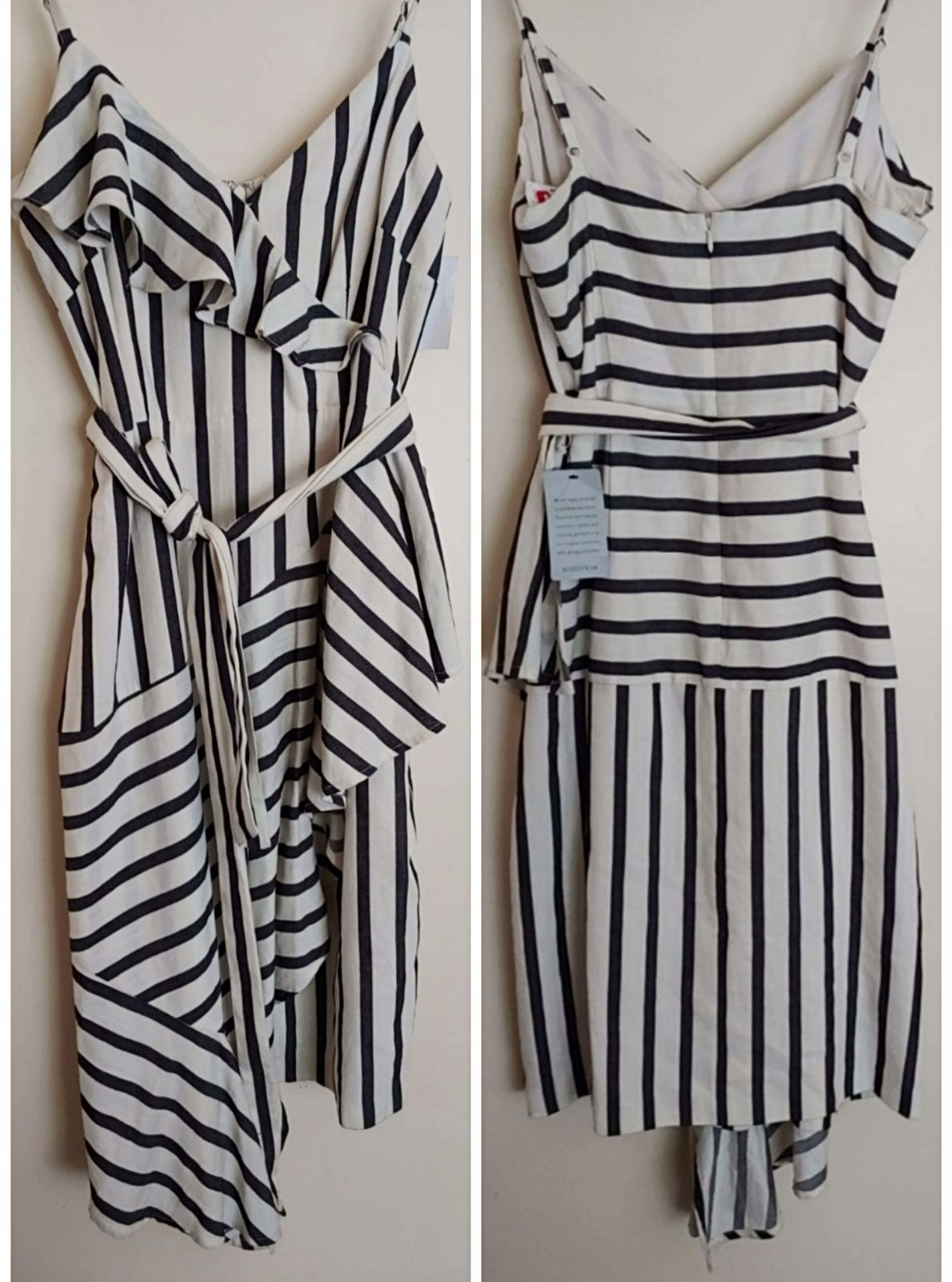 New Chelsea Assymetrical striped dress