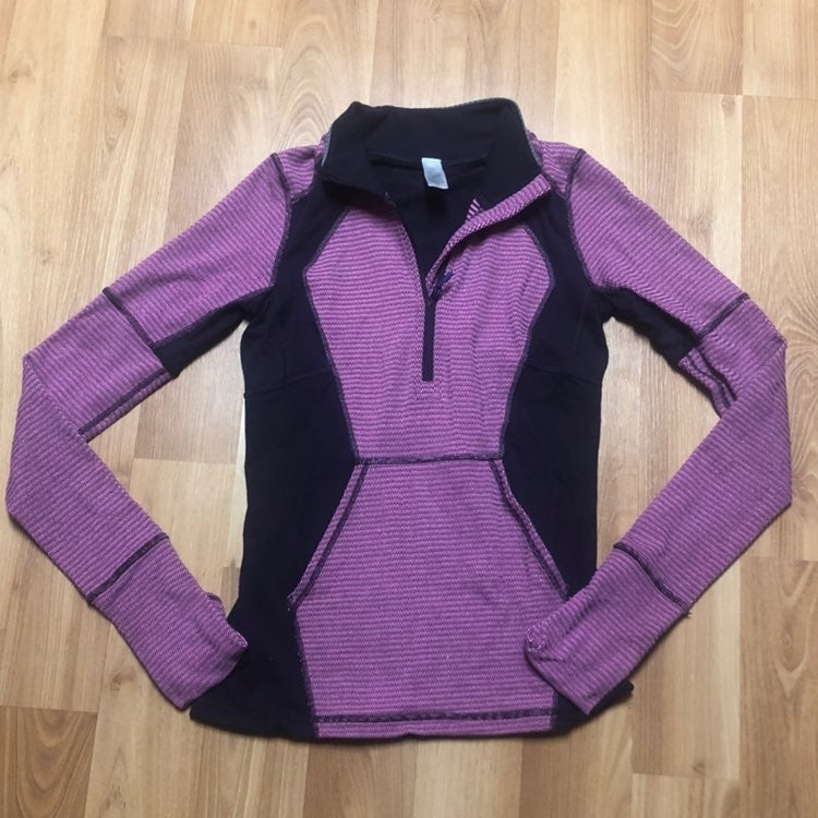 Ivivva pink purple quarter zip girls 14