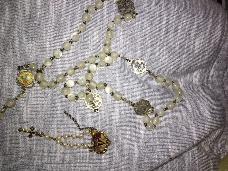 Rosary and charm