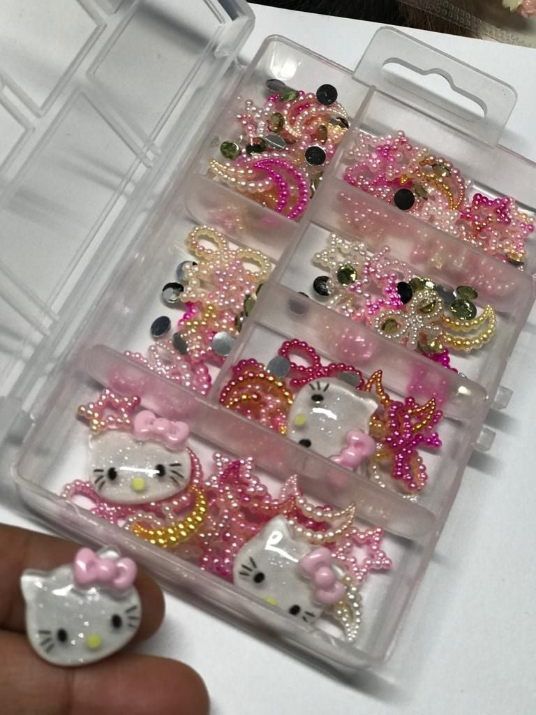 Cute box decoration nail