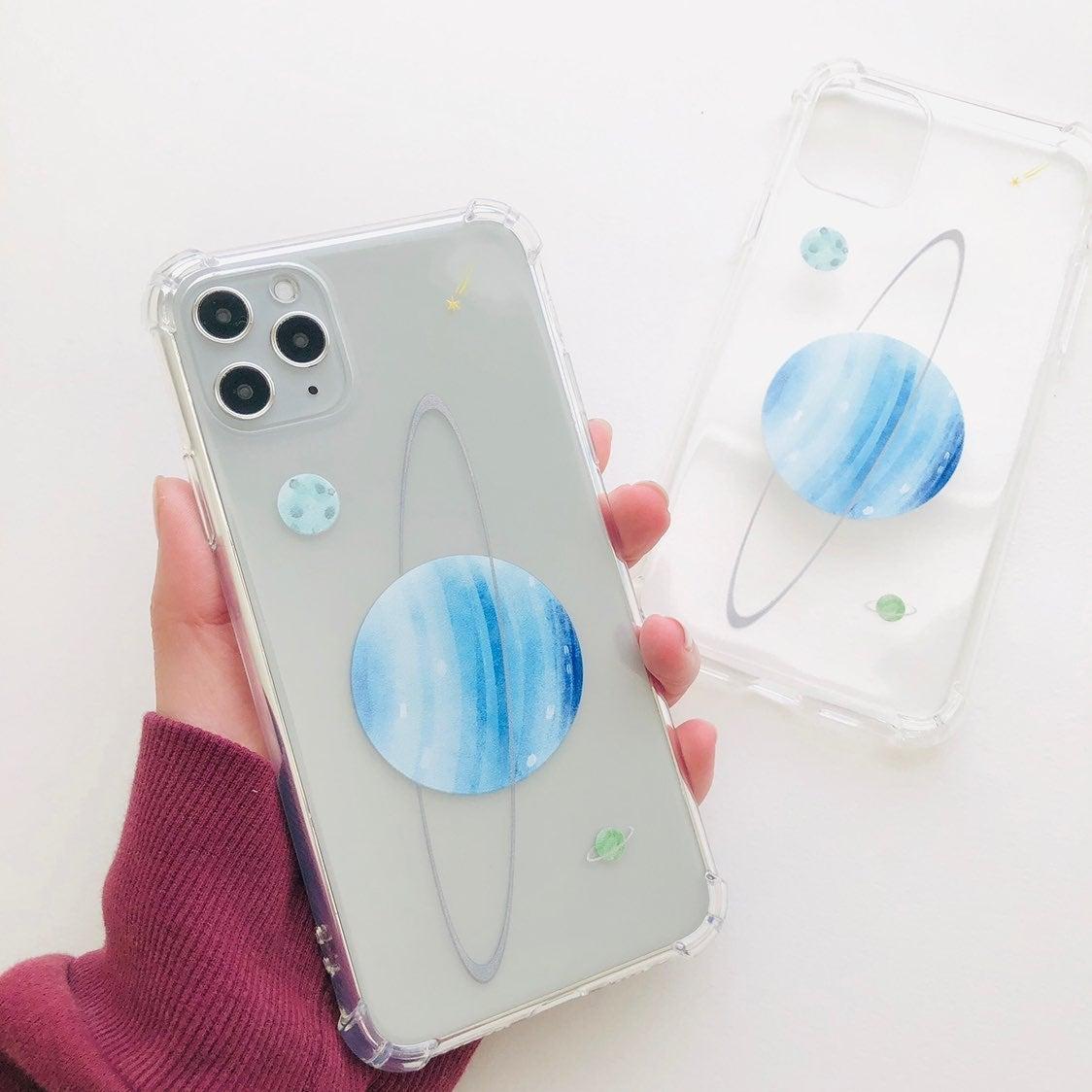Blue uranus clear iphone 11pro max case