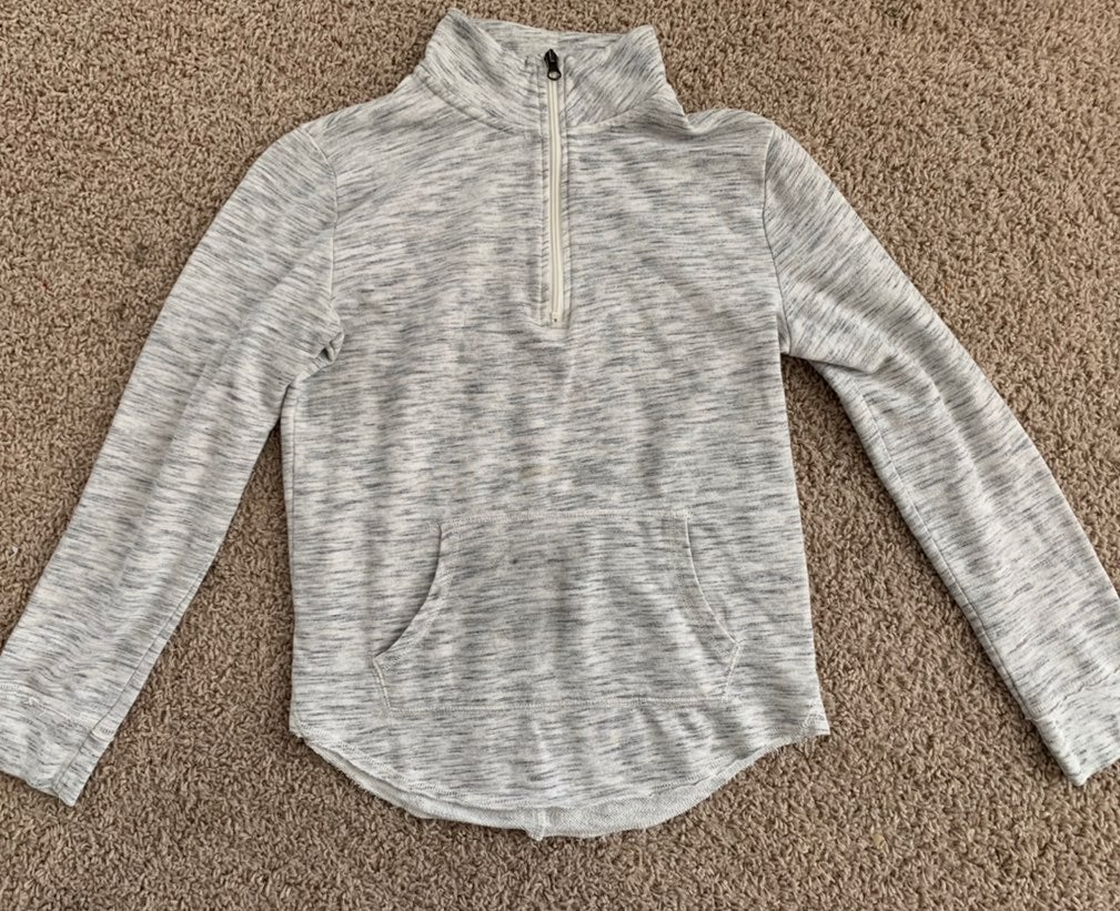 heather grey quarter zip