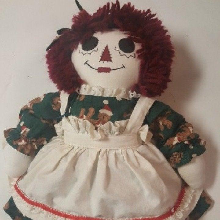 100% Hand Made Raggedy Ann Doll