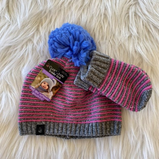 Toddler Cuddl Duds Hat and Mitten Set