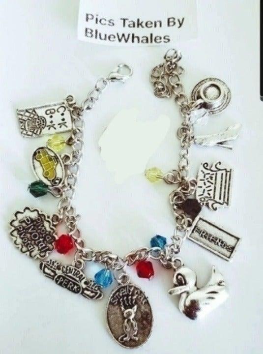 Funny TV Show Friends 10 Charm Bracelet