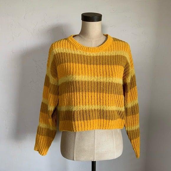 Wild Fable mustard yellow block striped