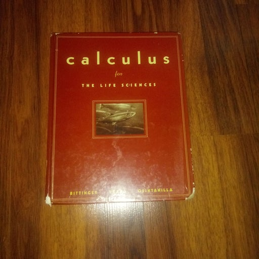 Calculus for the life sciences pearson 1