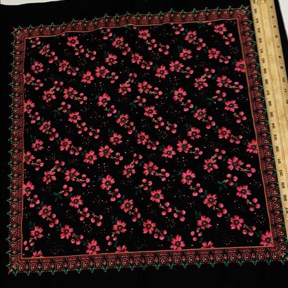 Wool 100% laine hand printed kerchief