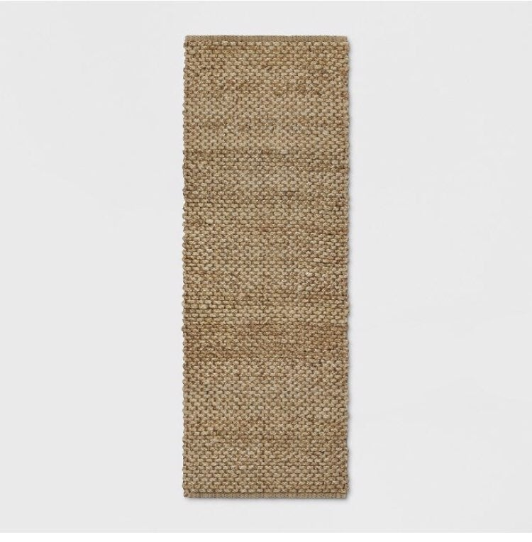 """2'3""""x7' Annedale Runner RugSolid natural"""