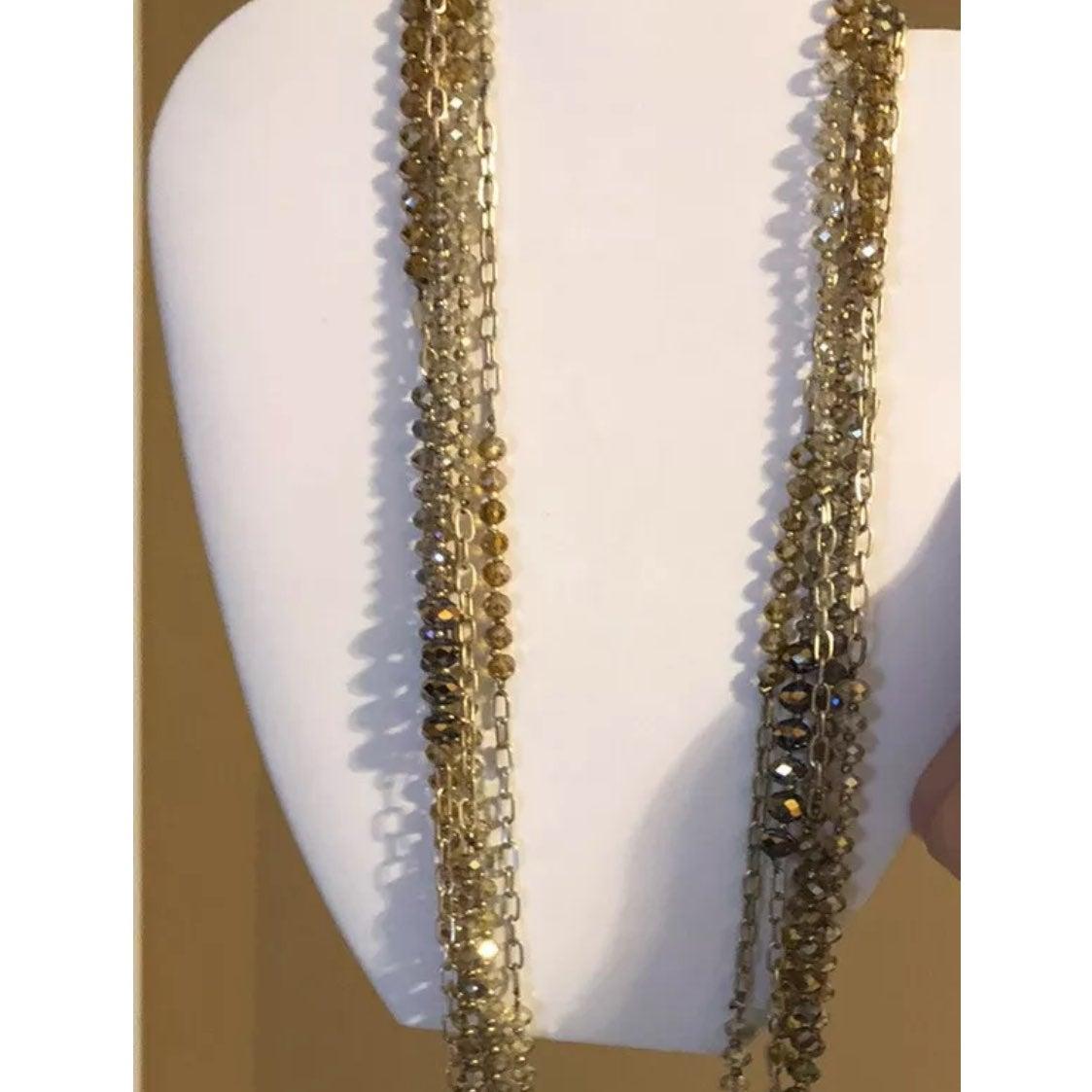 Ann Taylor Loft Crystal Beaded Necklace