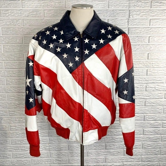 WHEREMI Michael Hoban American Flag Leat