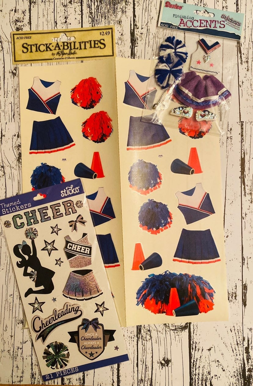 Cheerleading Card/Scrapbook Lot 50pc