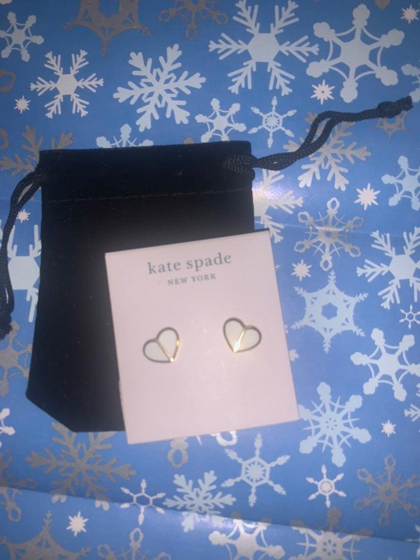 Kate Spade Heritage spade white earring