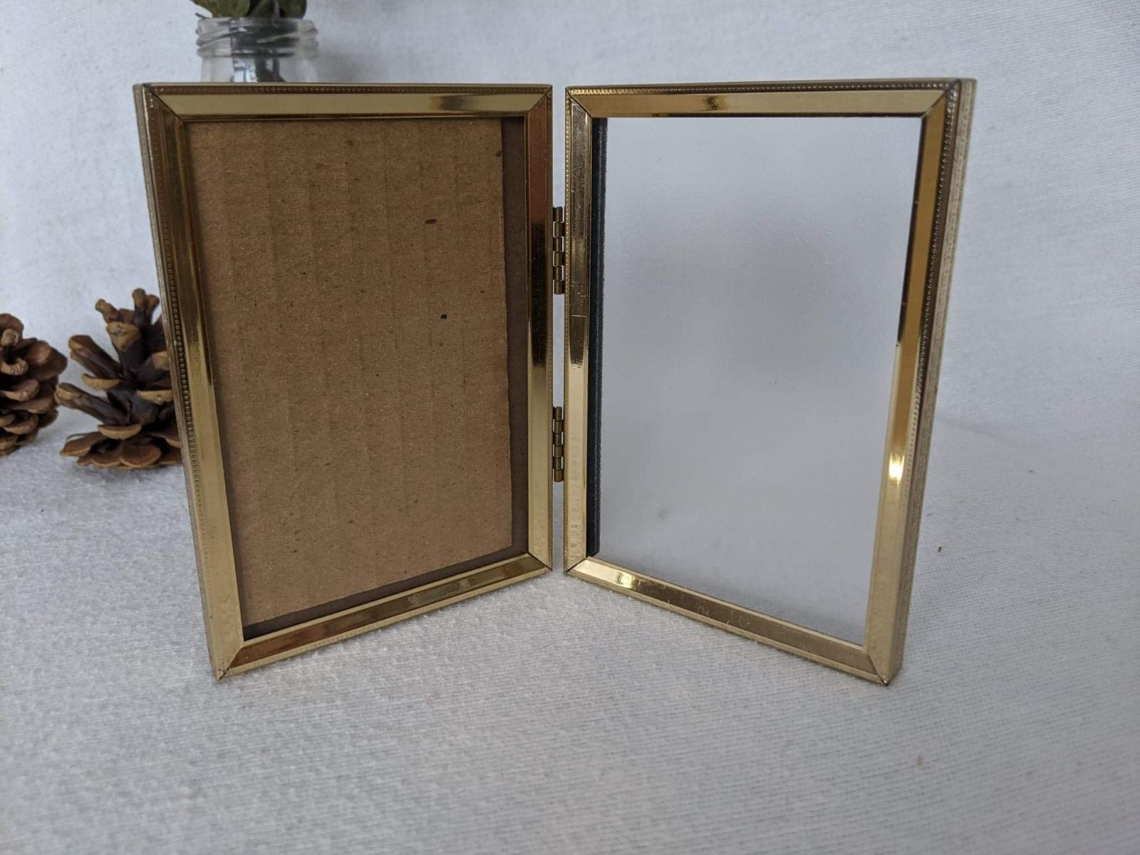 Mid Century Modern Gold Picture Frame