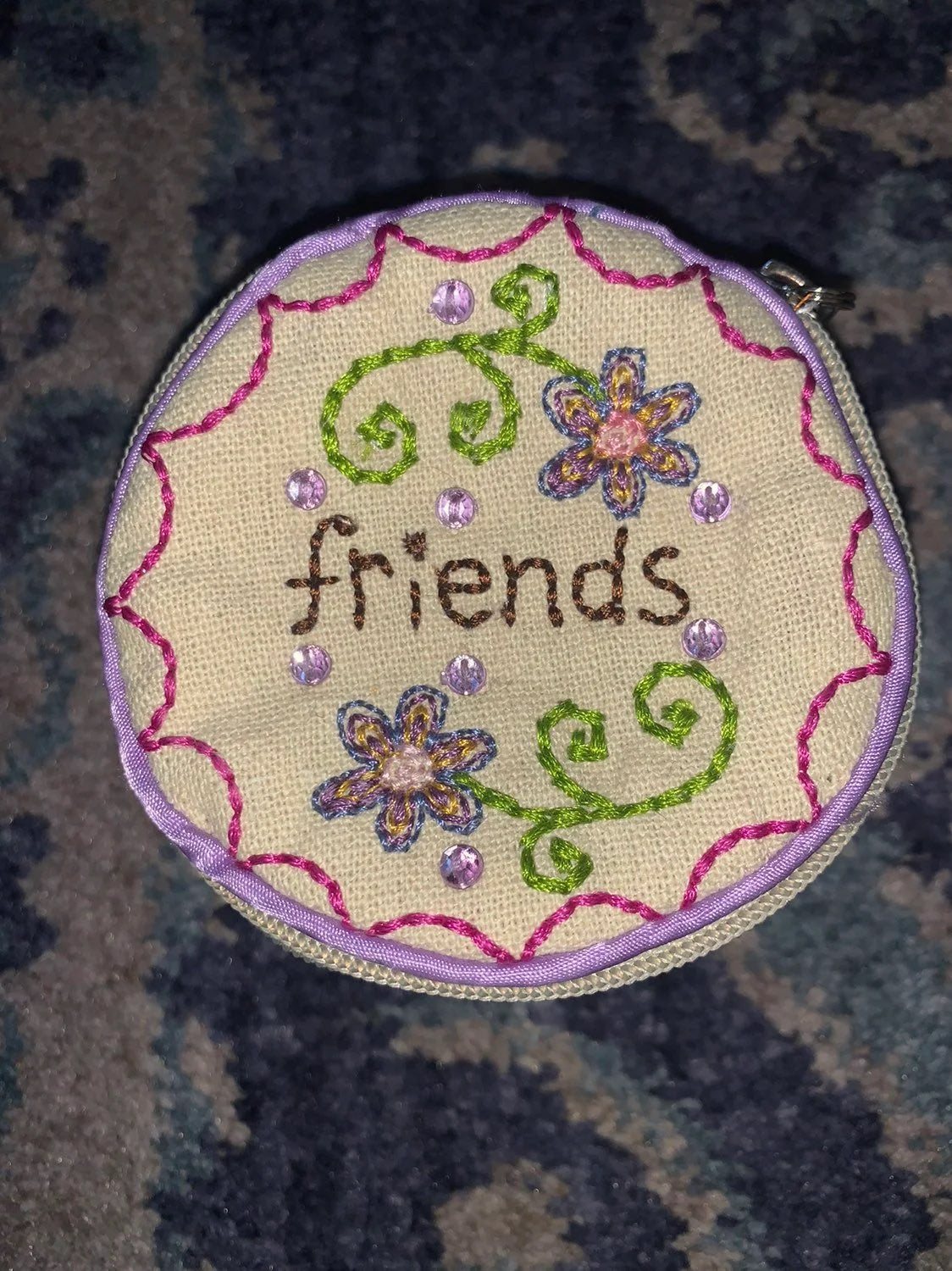 Embroidered Handmade Pouch